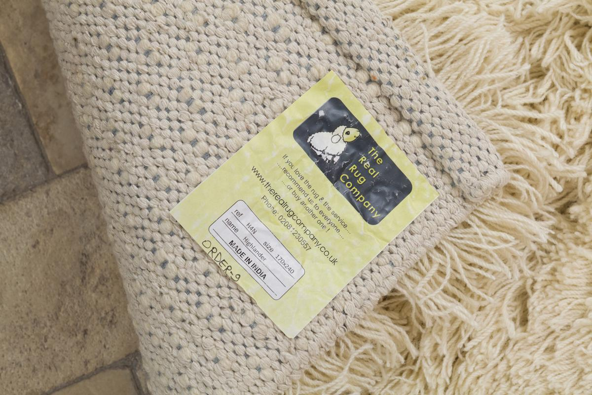 Highlander Shaggy Rug Natural 110x170cm 7