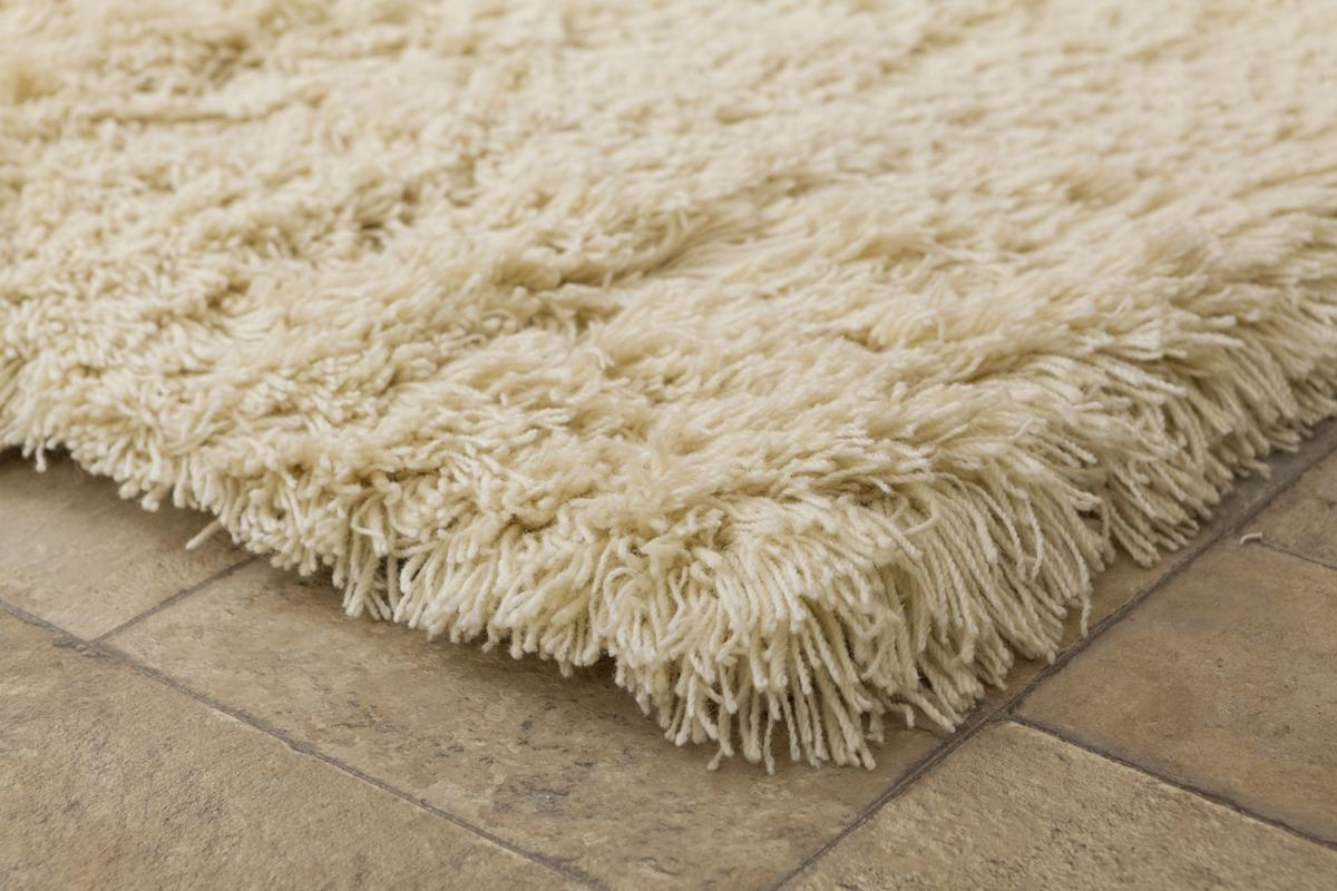 Highlander Shaggy Rug ROUND Natural 150cm 4