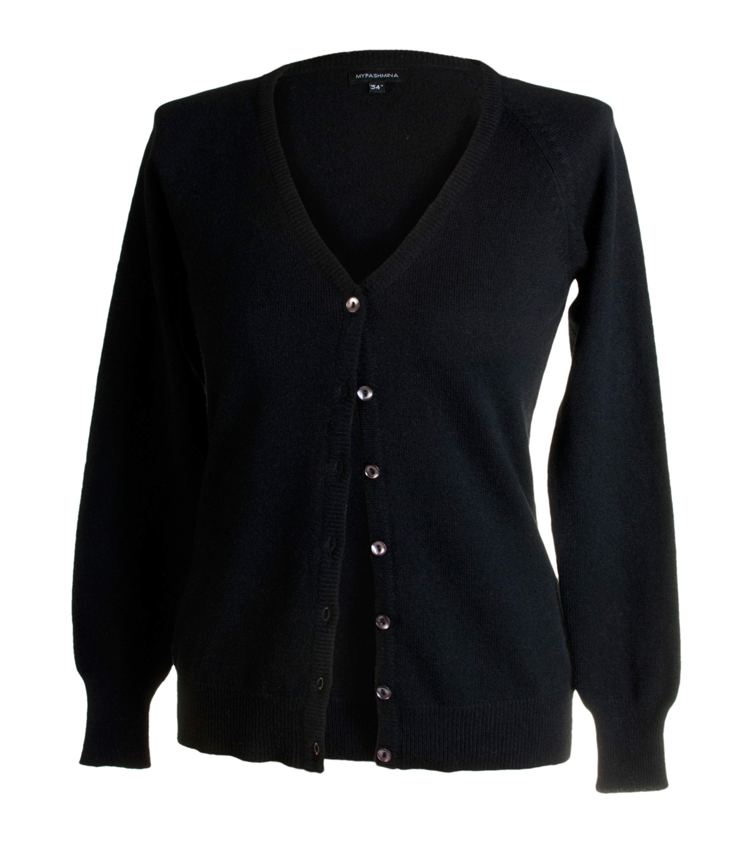 Ladies Cashmere V Neck Cardigan