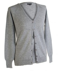 Ladies Cashmere V-Neck Cardigan