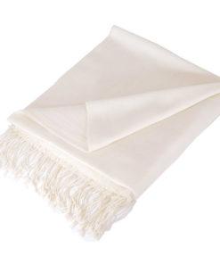 Pashmina Stole - Natural White - 70% Cashmere / 30% Silk