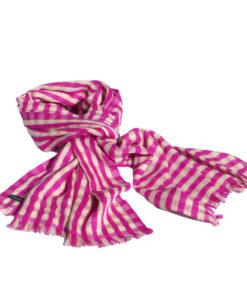 Pashmina with stripes 100% Cashmere