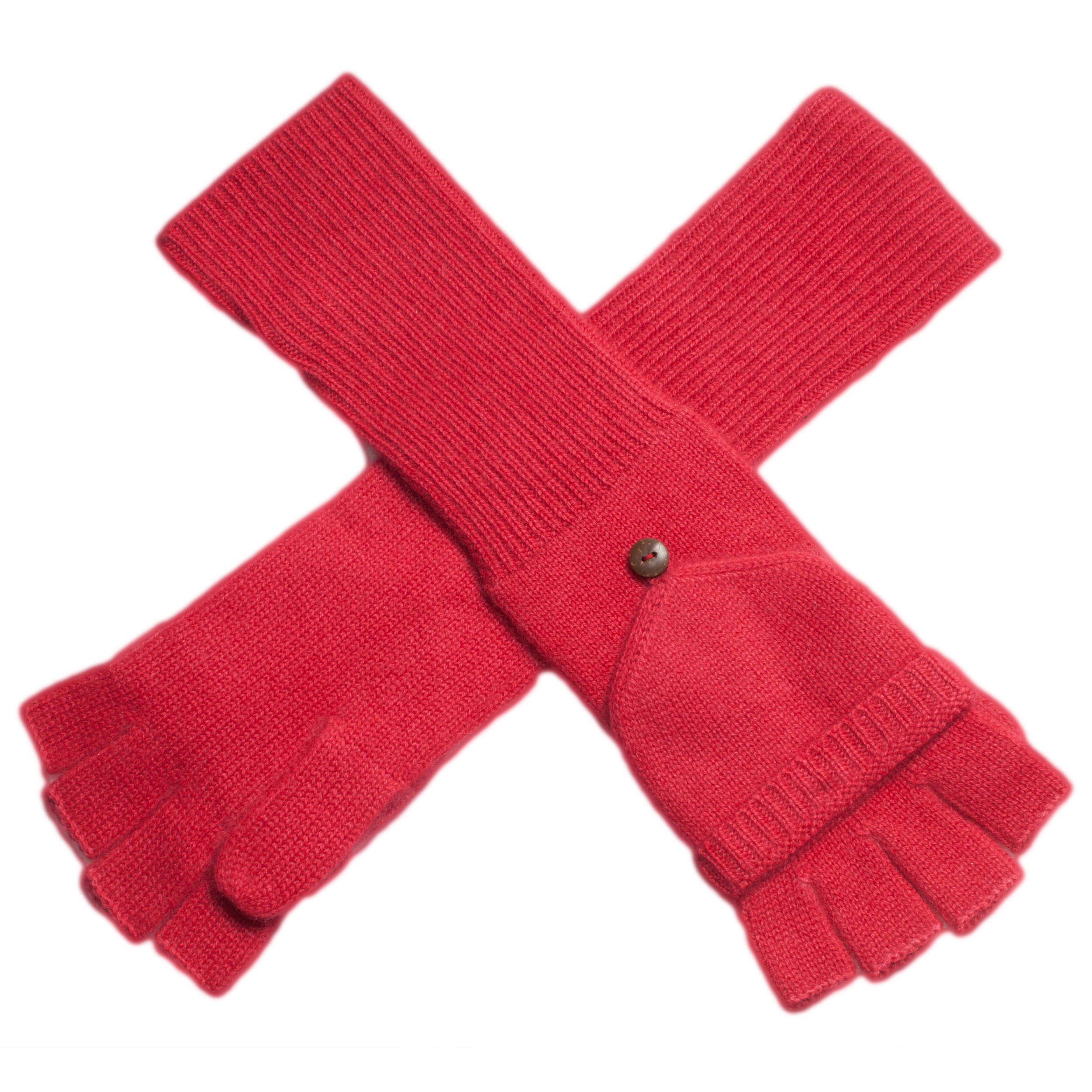 Ladies Cashmere On/Off Gloves - 100% Cashmere - Raspberry Wine mp31
