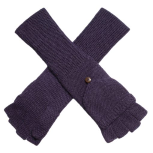 Ladies Cashmere On/Off Gloves - 100% Cashmere - Nightshade mp54