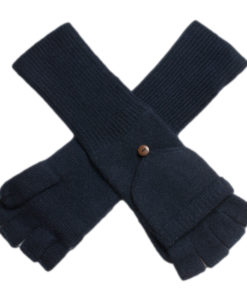 Ladies Cashmere On/Off Gloves - 100% Cashmere - Dark Navy mp120
