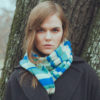 Knitted Stripey Scarf - 170x25cm - 100% Cashmere - Strawberry Mouse