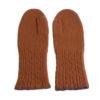 Cable Twist Mittens - 100% Cashmere - Burnt Orange