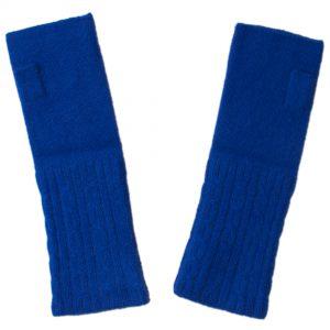 Cable Wristwarmer - 100% Cashmere - Clematis Blue