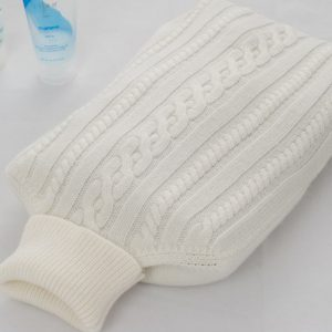 Cashmere Hot Water Bottle Cover - Natural White