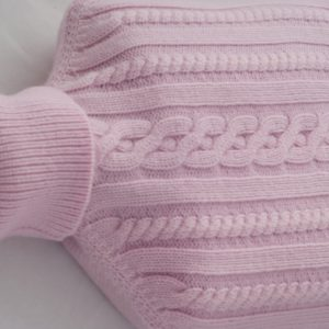Cashmere Hot Water Bottle Cover - Pink Lady