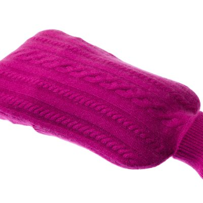 Cashmere Hot Water Bottle Cover - Deep Orchid
