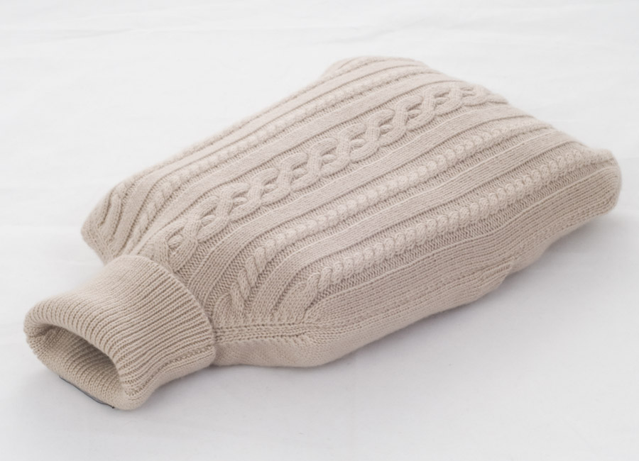 Cashmere Hot Water Bottle Cover - Sandshell