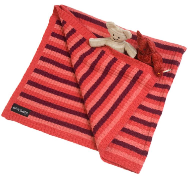 ceb86e5eb53 Buy Knitted Baby Blanket - 100% Cashmere - Reds Online - Pashmina ...