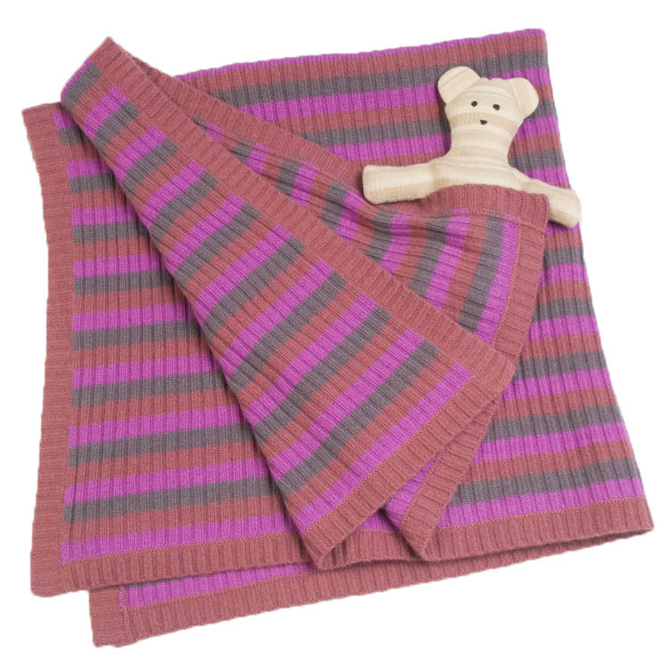 e66baae3b51 Buy Knitted Baby Blanket - 100% Cashmere - Pinks Online - Pashmina ...