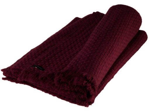 6ply Boxweave Blanket - 100% Cashmere - 140x180cm - Rhododendron