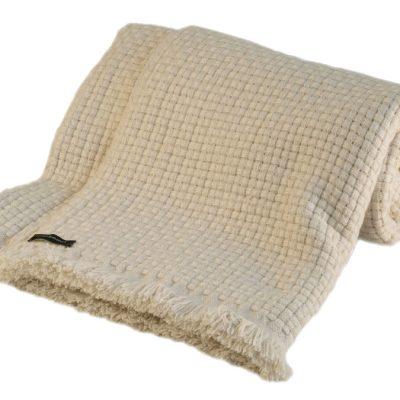 6ply Boxweave Blanket - 100% Cashmere - 140x180cm - Sandshell