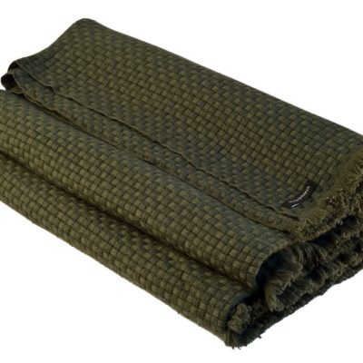 6ply Boxweave Blanket - 100% Cashmere - 140x180cm - Grape Leaf