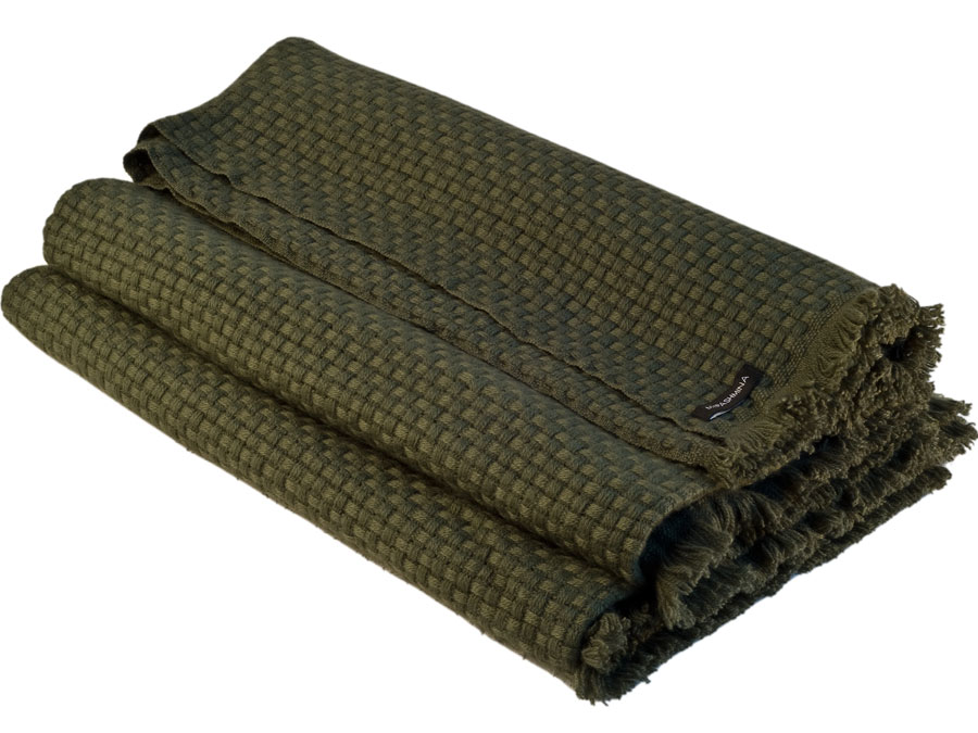 6ply Boxweave Blanket - 100% Cashmere - 140x180cm - Grape Leaf