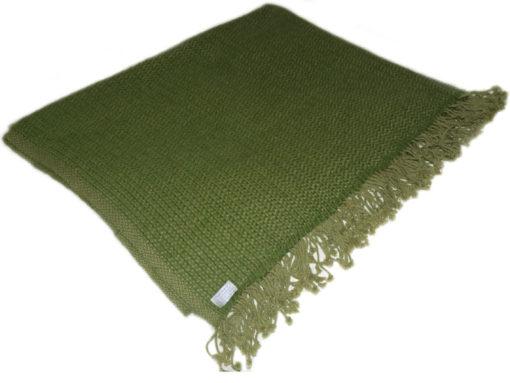 6ply Boxweave Blanket - 100% Cashmere - 140x180cm - Willow Bough / Mosstone
