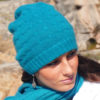 Cabled Hat - 100% Cashmere - Mosstone