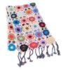 Crochet Knit Scarf - 100% Cashmere - 25x150cm - HKF235