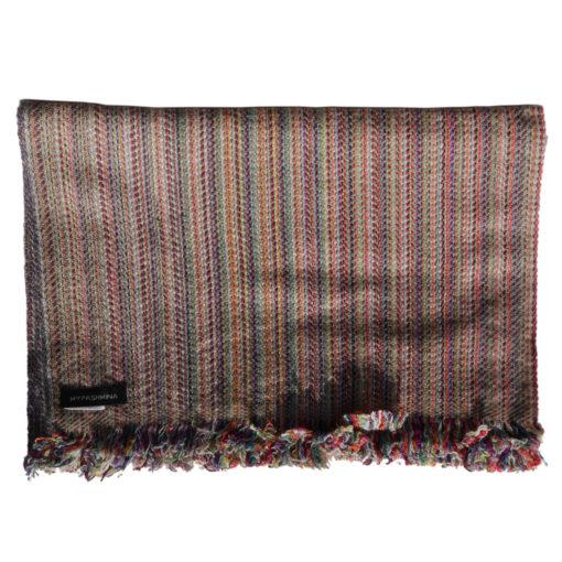 Cashmere Stripe Scarf - Srs38 - 33x180cm