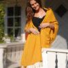 Pashmina Shawl - 90x200cm - 70% Cashmere / 30% Silk - Saffron