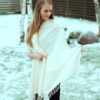 Pashmina Shawl - 90x200cm - 70% Cashmere / 30% Silk - Rose Of Sharon