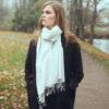 Pashmina Stole - 70x200cm - 70% Cashmere / 30% Silk - Dark Shadow