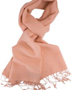 Pashmina Scarf - 30x150cm - 70% Cashmere/30% Silk - Peach Nectar