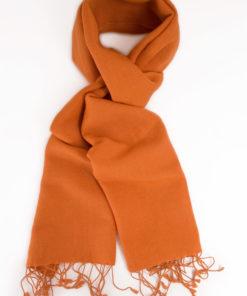 Pashmina Scarf - 30x150cm - 70% Cashmere/30% Silk - Harvest Pumpkin