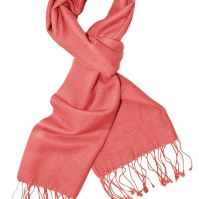 Pashmina Scarf - 30x150cm - 70% Cashmere/30% Silk - Rose Of Sharon