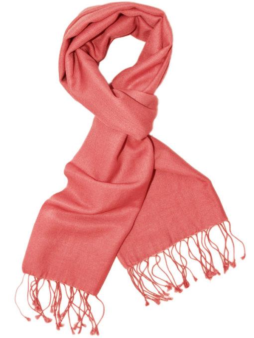 Pashmina Scarf - 30x150cm - 70% Cashmere/30% Silk - Rose Of Sharon