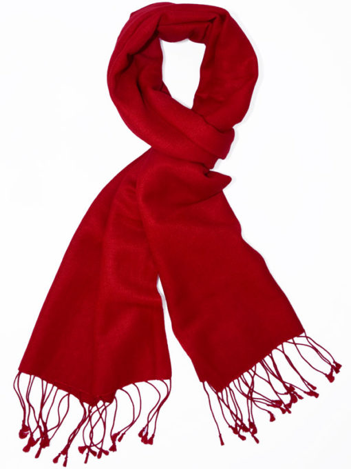 Pashmina Scarf - 30x150cm - 70% Cashmere/30% Silk - Fiery Red