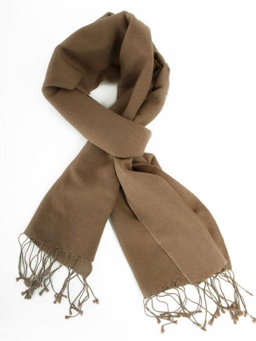 Pashmina Scarf - 30x150cm - 70% Cashmere/30% Silk - Brownie