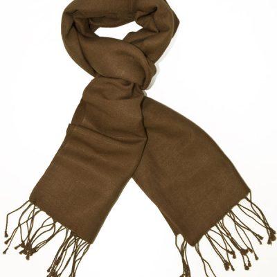 Pashmina Scarf - 30x150cm - 70% Cashmere/30% Silk - Cocoa Brown