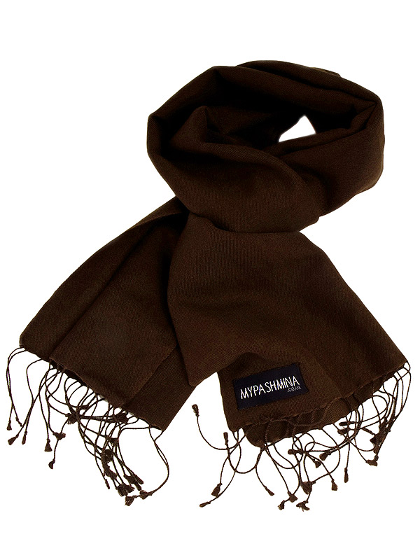 Pashmina Scarf - 30x150cm - 70% Cashmere/30% Silk - Coffee Bean