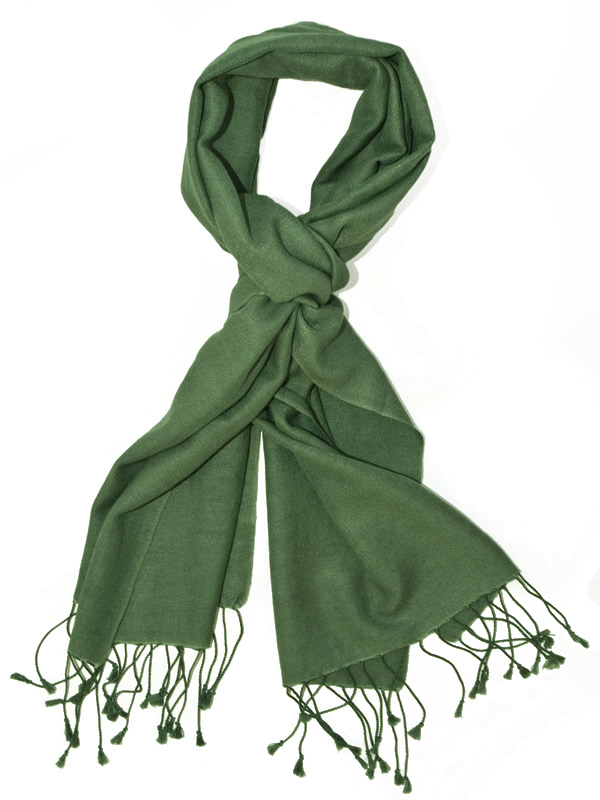 Pashmina Scarf - 30x150cm - 70% Cashmere/30% Silk - Duck Green