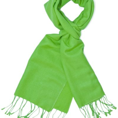 Pashmina Scarf - 30x150cm - 70% Cashmere/30% Silk - Lime Green