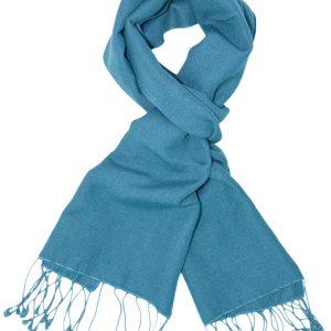 Pashmina Scarf - 30x150cm - 70% Cashmere/30% Silk - Adriatic Blue