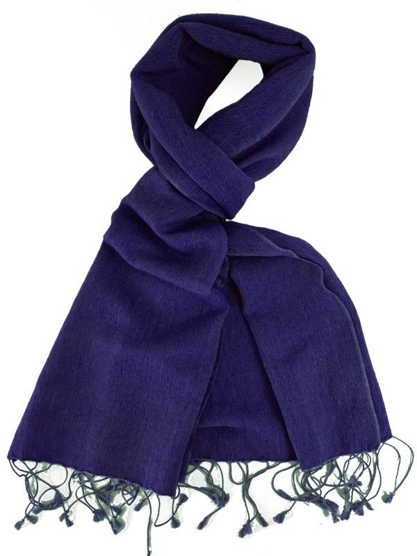 Pashmina Scarf - 30x150cm - 70% Cashmere/30% Silk - Clematis Blue