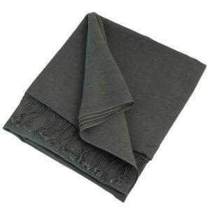 Pashmina Large Scarf - 45x200cm - 70% Cashmere/30% Silk - Folkstone Grey