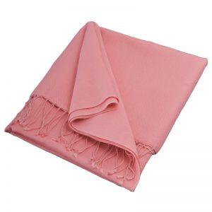 Pashmina Large Scarf - 45x200cm - 70% Cashmere/30% Silk - Quartz Pink