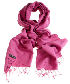 Pashmina Large Scarf - 45x200cm - 70% Cashmere/30% Silk - Wood Rose