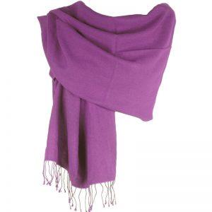 Pashmina Large Scarf - 45x200cm - 70% Cashmere/30% Silk - Dusty Lavender