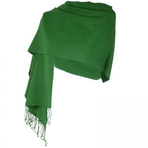 Pashmina Large Scarf - 45x200cm - 70% Cashmere/30% Silk - Grape Leaf