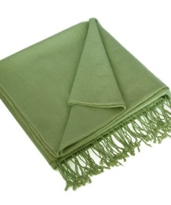 Pashmina Large Scarf - 45x200cm - 70% Cashmere/30% Silk - Forest Green