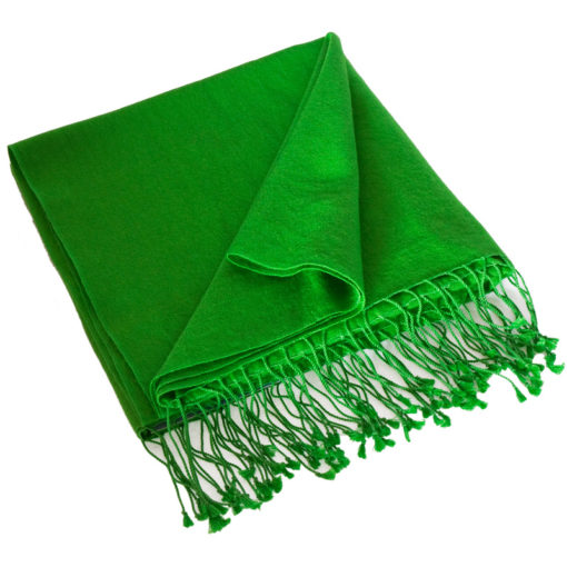 Pashmina Large Scarf - 45x200cm - 70% Cashmere/30% Silk - Online Lime