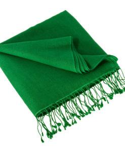 Pashmina Large Scarf - 45x200cm - 70% Cashmere/30% Silk - Verdant Green