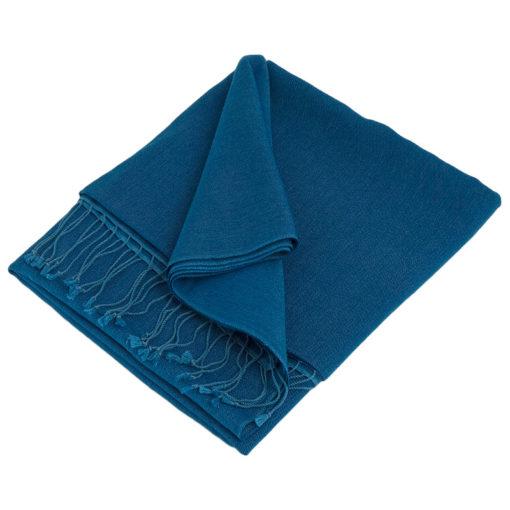 Pashmina Large Scarf - 45x200cm - 70% Cashmere/30% Silk - Princess Blue